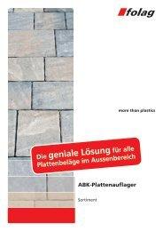 ABK-Plattenauflager - Folag AG Folienwerke