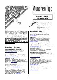 Räume mieten in München - JIZ