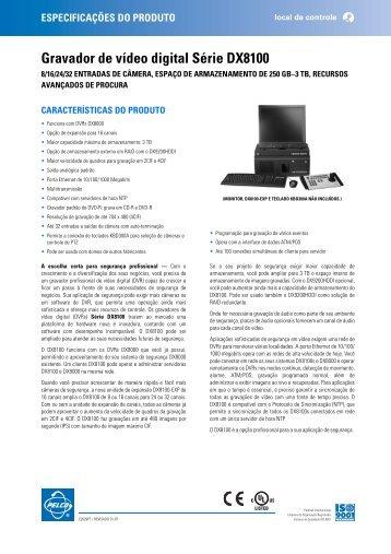 Pelco DX8100 Series DVR_PT_spec - Abix Tecnologia