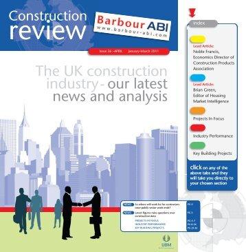 Construction Review : Issue 26 APRIL : Jan-Mar 2011 - Barbour ABI