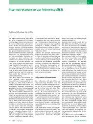 Internetressourcen zur Intersexualität - Priv.-Doz. Dr. Christiane ...