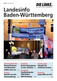 Landesinfo Baden-Württemberg - DIE LINKE. LV Baden-Württemberg