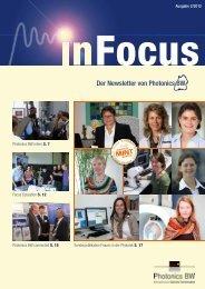 Der Newsletter von Photonics BW - Photonics BW eV