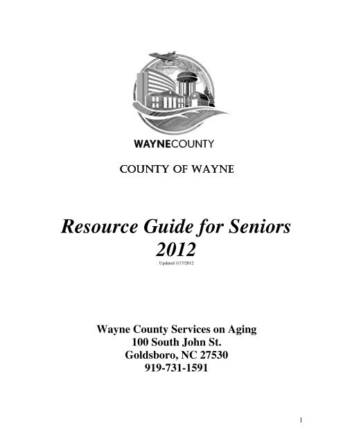 Resource Guide for Seniors 2012 - County of Wayne