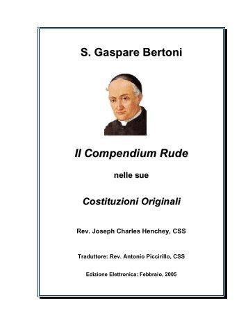 Compendium Rude (in Italiano) - St. Gaspar Bertoni