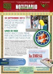 NOTIZIARIO - Centro di Aiuto alla Vita di Padova