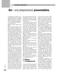 «Da»: una preposizione presenzialista