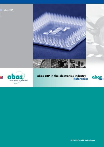 abas ERP in the electronics industry References - ABAS Projektierung