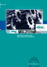 abas ERP - ABAS Software AG