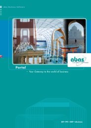 Portal: Your Gateway to the world of business - ABAS Software AG