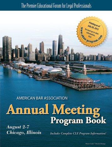 Annual Meeting Program Book - ABA E-Program