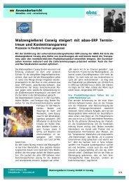 Walzengießerei Coswig steigert mit abas-ERP Termin- treue und ...