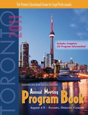 ABA Annual Meeting 2011 Program Book - ABANow