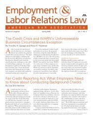 Employment & Labor Relations Law - Morgan, Lewis & Bockius