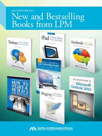 New and Bestselling Books from LPM - American Bar Association