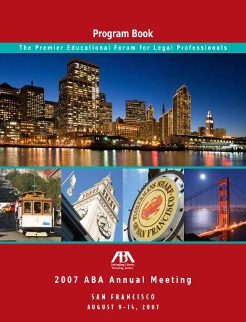 2007 ABA Annual Meeting Program Book - American Bar Association