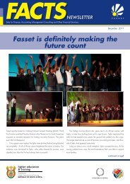Fasset FACTS DECEMBER 2011