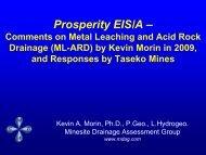 Dr. Kevin Morin's presentation at the