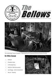 In this issue - Artist Blacksmiths Association South Australia