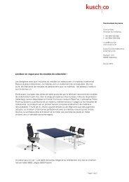 Linoléum en vogue pour les meubles de collectivité ... - Kusch+Co