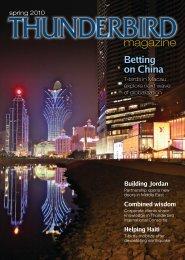 Spring - Thunderbird Magazine - Thunderbird School of Global
