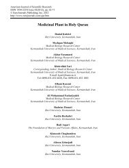 Medicinal Plant in Holy Quran - EuroJournals