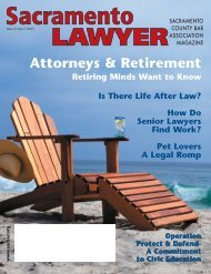 March / April 2007 - Sacramento County Bar Association