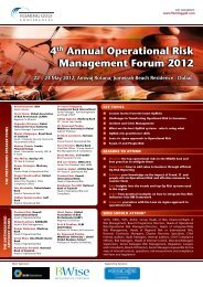 4th Annual Operational Risk Management Forum 2012 - Fleming Gulf