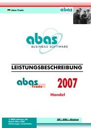 abas-Trade - CX9 Systems GmbH