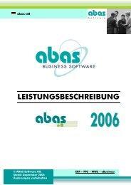 LEISTUNGSBESCHREIBUNG - ABAS Software AG