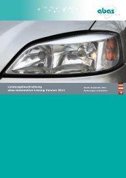Leistungsbeschreibung abas-Automotive-Lösung Version 2011