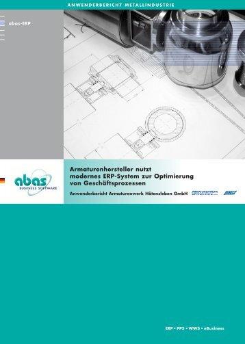 Armaturenhersteller nutzt modernes ERP-System zur Optimierung ...