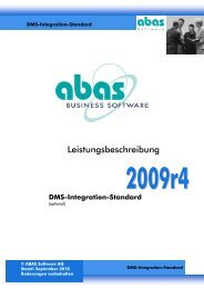 DMS-Integration-Standard - ABAS Software AG