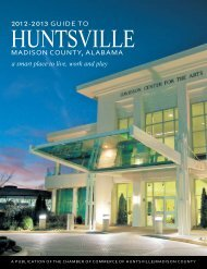 Guide TO MadisOn COunTy, aLabaMa - Huntsville/Madison County ...