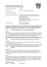 Protokoll zur 11. Sitzung des Haupt- und ... - Angelburg