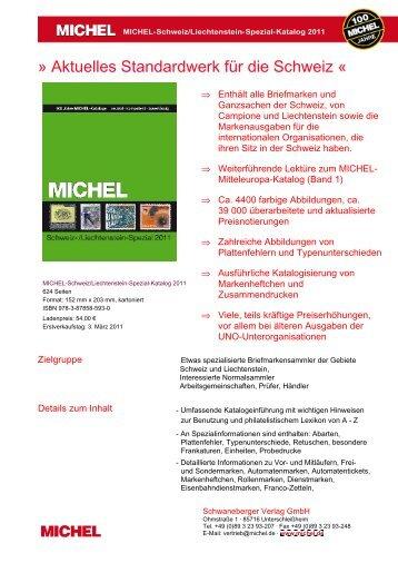 Aktuelles Standardwerk für die Schweiz « - briefmarken.de