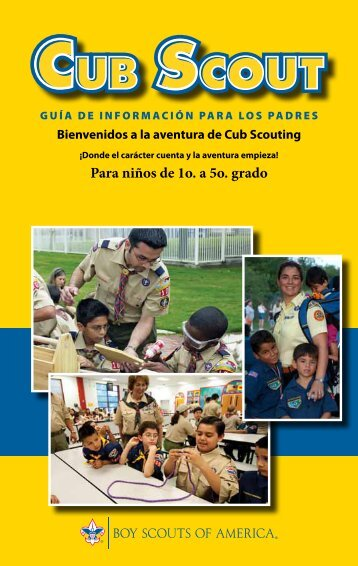Para niños de 1o. a 5o. grado - Boy Scouts of America