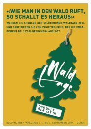 Flyer Waldtage 2014 - BWSo