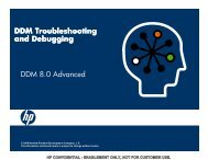 DDM Troubleshooting and Debugging DDM 8.0 Advanced