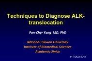Techniques to Diagnose ALK- translocation - ITOCD.com