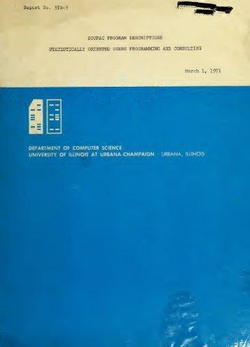 SOUPAC program descriptions - ideals - University of Illinois at ...