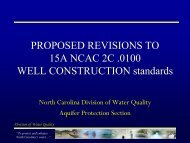 Proposed Revisions To 15A NCAC 2C .0100 Well - North Carolina ...