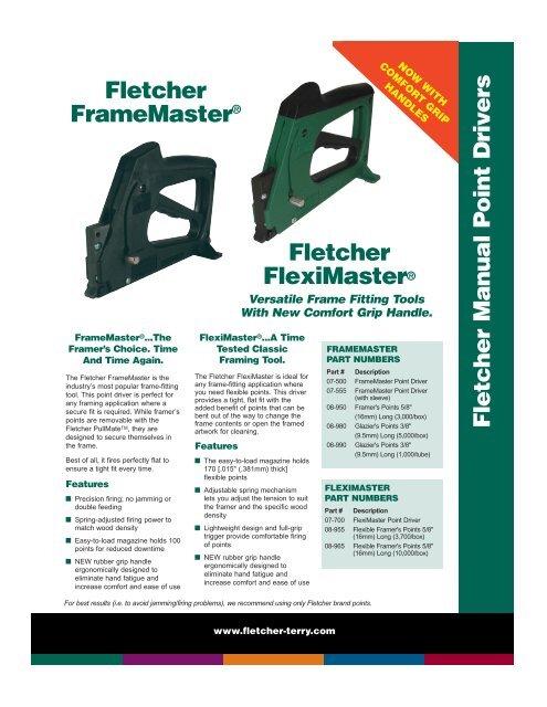 Fletcher Manual Point Drivers The Fletcher Terry Company