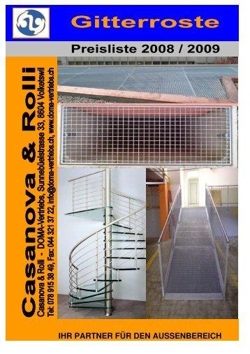 Fassaden- und Feuerleiter - Gitterroste
