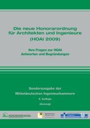 Die neue Honorarordnung für Architekten und Ingenieure (HOAI 2009)