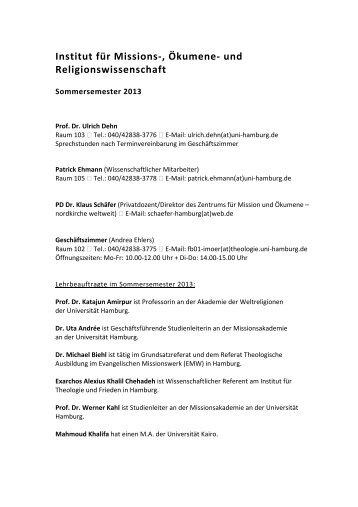 und Religionswissenschaften - Fachbereich Evangelische ...