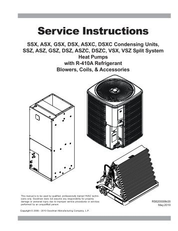 Service Instructions - Heli Cool