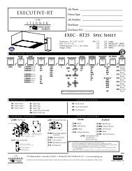 Executive RT25 Spec Page - Sterner Lighting