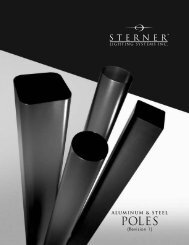 Steel and Aluminum Pole Brochure - Sterner Lighting