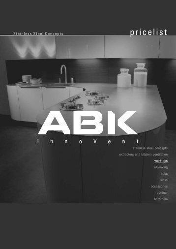 Stainless steel worktops - ABK InnoVent